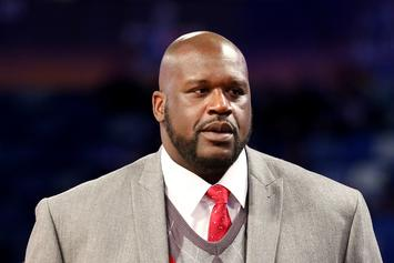 "Shaq Inspired By Cardi B's ""I Like It,"" Gets Toe Nails Glittered Down"