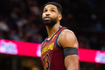 Tristan Thompson Shares Family Photo With Son Prince & Daughter True