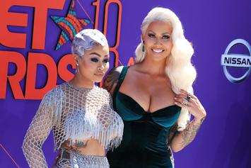 Amber Rose & Blac Chyna Kiss On The Lips At BET Awards