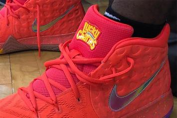 """Kyrie Irving Debuts """"Lucky Charms"""" Nike Kyrie 4"""