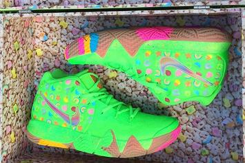 """""""Lucky Charms"""" Nike Kyrie 4 Surfaces In Green Colorway"""