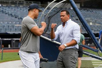 Alex Rodriguez Mops Floors At Wahlburgers After Losing Yankees-Red Sox Bet