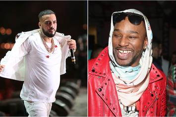 French Montana Gets The Pink Fur Hookup From Cam'Ron
