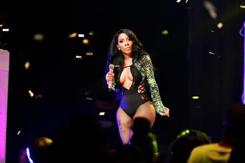 K. Michelle Flashes Her Breasts At NYE Crowd