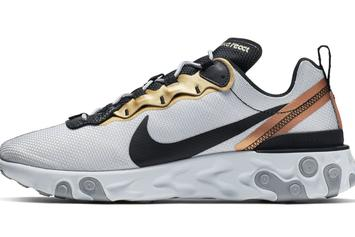 Metallic Gold Comes To The Nike React Element 55