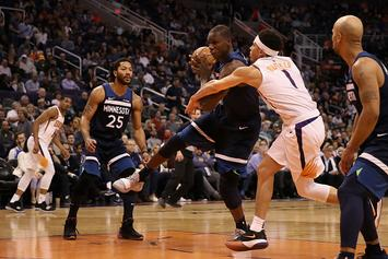 Devin Booker, Gorgui Dieng Ejected From Game, Try Fighting In The Hallway