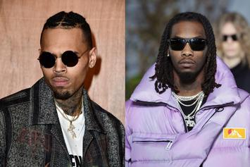 "Chris Brown Tells Offset ""Fight Me"" Over 21 Savage ICE Arrest Meme"