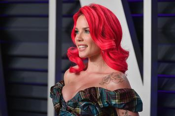 "Halsey Rocks Red Tresses At ""Vanity Fair"" Post Oscar Party"