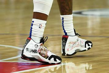 "Clippers' Montrezl Harrell Debuts ""Tupac"" & ""Rocket Power"" Air Jordan Customs"