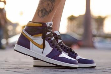 "Nike SB X Air Jordan 1 ""Lakers"" Rubs Off To Reveal Chicago Colors: Video"