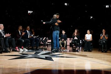 Tim Duncan Shares Funny Manu Ginobili Story During Jersey Retirement Ceremony