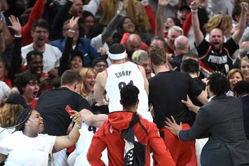 """Damian Lillard's Sister Storms Court After Game-Winner: """"That's My Brother"""""""