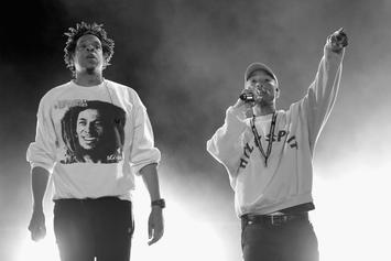 "Pharrell & Jay-Z Surprise Festival Attendees With ""Frontin'"" Performance: Watch"