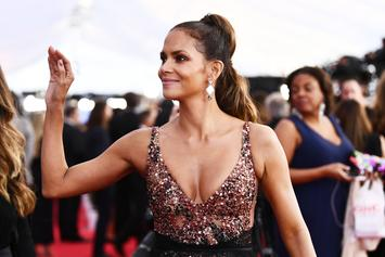 Halle Berry Struts Legs In Mini Skirt On Red Carpet
