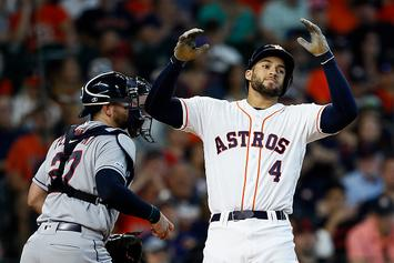 "Astros' George Springer ""Disciplined"" For Calling Ump A ""C*** Sucker"": Video"