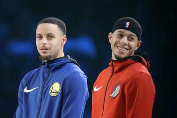 Here's How The Currys Will Decide Who To Root For In Blazers-Warriors Series
