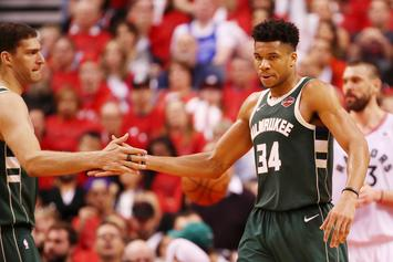 Giannis Antetokounmpo Reacts To Struggling In Game Three Against Raptors