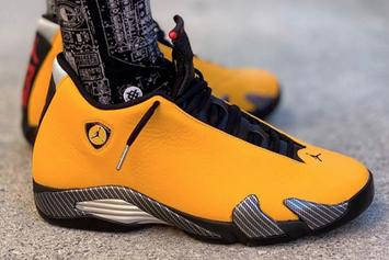 "Yellow Air Jordan XIV ""Ferrari"" Releasing In June: On-Foot Images"