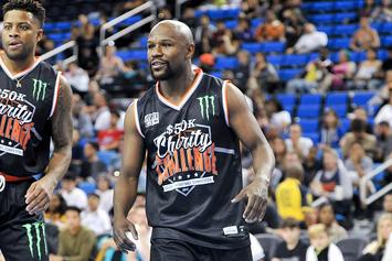 Floyd Mayweather Gets Ankles Broken In Charity Basketball Game: Video