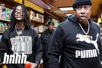 "E-40 & OMB Peezy Have An Accidental Food Fight & Name Their Go-To Drunk Foods On ""Snack Review"""
