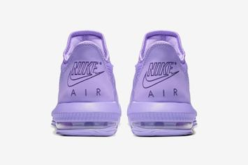 Nike LeBron 16 Low Surfaces In Pastel Purple Colorway: Official Images