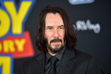 """Keanu Reeves Reveals Bizarre New Look On The Set Of """"Bill & Ted"""""""
