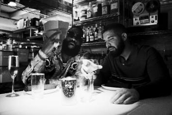 """Drake & Rick Ross Mob Out Together In """"Money In The Grave"""""""
