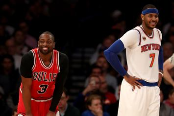Dwyane Wade Sounds Off On Carmelo Anthony's NBA Struggles