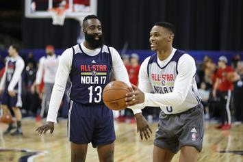James Harden & Russell Westbrook Reunite In Rockets Jerseys, Twitter Reacts
