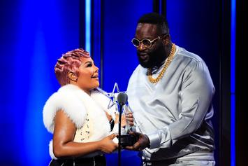 Rick Ross Speaks On Lil Kim's Legacy On BET Hip Hop Awards Green Carpet