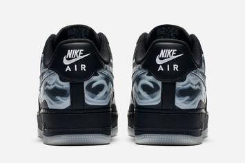 """Nike Air Force 1 Low """"Black Skeleton"""" Release Date Confirmed: Official Photos"""