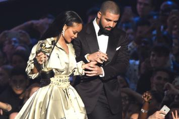Rihanna & Drake Spotted Together At His Birthday Party
