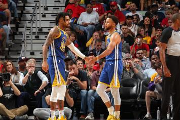 Steph Curry & D'Angelo Russell Prance Around Like Kids After First Win: Watch