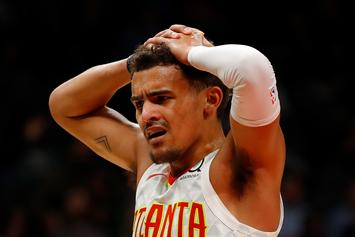 Trae Young Reacts After Sustaining Scary Ankle Injury Against The Heat