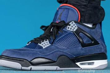 "Air Jordan 4 Winterized ""Loyal Blue"" Coming Soon: On-Foot Photos Revealed"