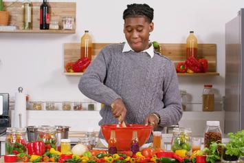 """Lil West Is The Host Of His Own Spicy Cooking Show In """"Hot Sauce"""" Video"""