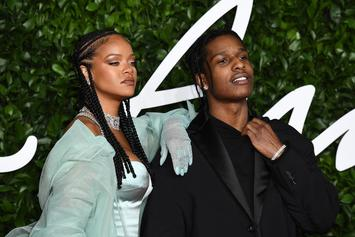 Rihanna & A$AP Rocky Dressed To Kill At The British Fashion Awards
