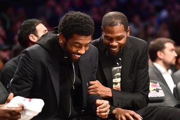 Kevin Durant & Kyrie Irving's Pitiful Stare Goes Viral On Twitter