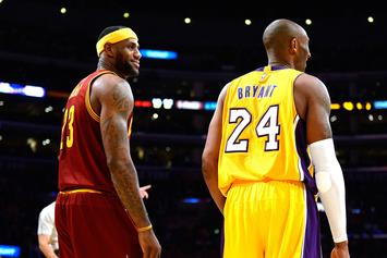 Lebron James Seen In Tears Following Kobe Bryant's Passing