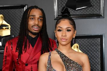 """Quavo Pranks Saweetie With The """"Broom Challenge"""" That's Sweeping The Nation"""