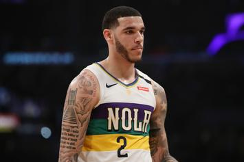 Lonzo Ball Displays Bizarre Weightlifting Form