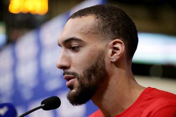 Rudy Gobert Makes A Fool Of Himself With Serena Williams Mix-Up