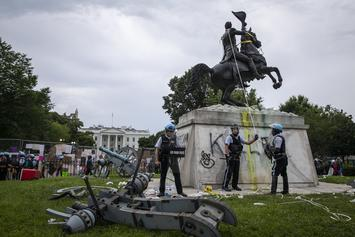 Protestors Try Taking Down Andrew Jackson Sculpture In Washington D.C.