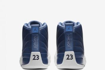 """Air Jordan 12 """"Stone Blue"""" Releases Today: Purchase Links"""
