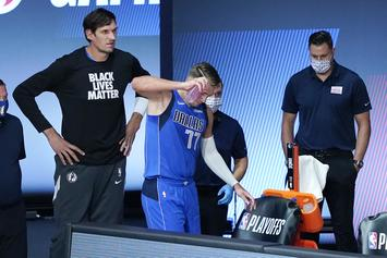 Luka Doncic Emotional After Suffering Ankle Sprain