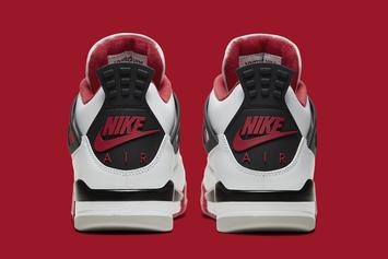 """Air Jordan 4 """"Fire Red"""" Officially Revealed: Detailed Photos"""