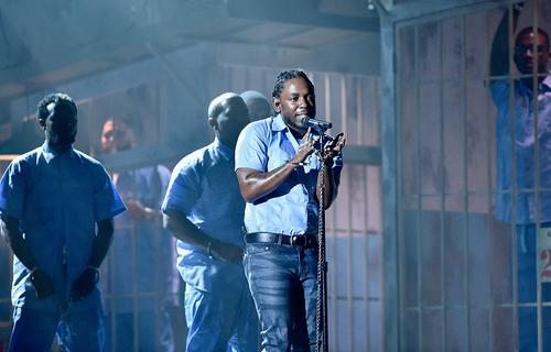 Rapper Kendrick Lamar performs onstage during The 58th GRAMMY Awards at Staples Center on February 15, 2016 in Los Angeles, California.