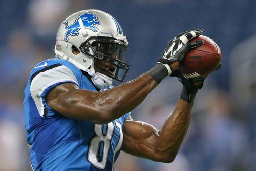 Megatron warming up before game against Jags