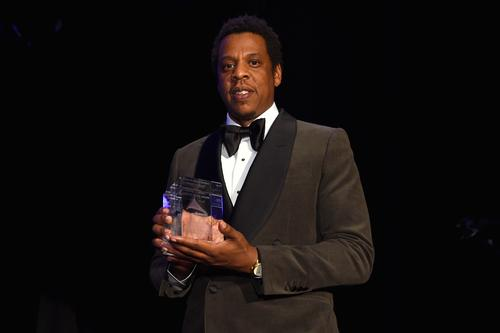 Jay-Z accepts the President's Merit Award onstage during the Clive Davis and Recording Academy Pre-GRAMMY Gala and GRAMMY Salute to Industry Icons Honoring Jay-Z on January 27, 2018 in New York City