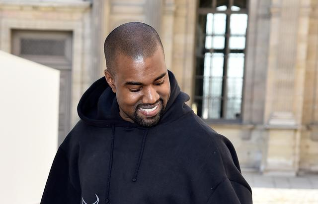 Kanye West at Paris Fashion Week